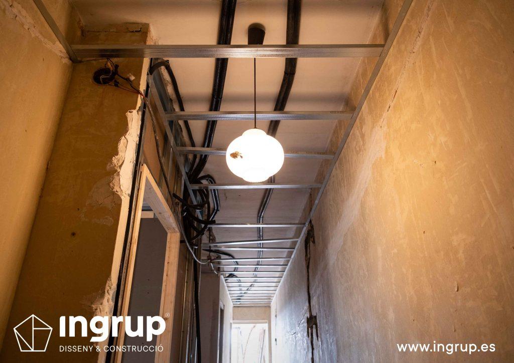 0009 reforma integral vivienda ingrup estudi diseno construccion granollers barcelona obra reforma colocacion de techo en pladur