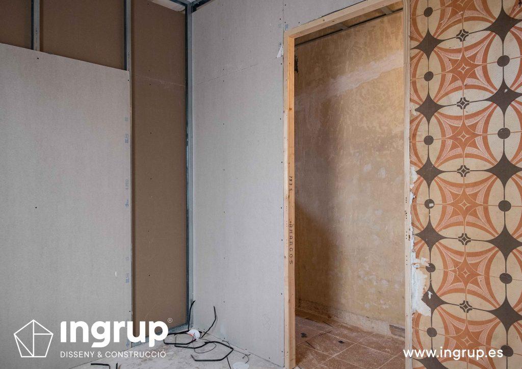 0010 reforma integral vivienda ingrup estudi diseno construccion granollers barcelona obra reforma nueva distribución en pladur