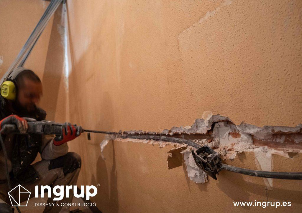 0012 reforma integral vivienda ingrup estudi diseno construccion granollers barcelona obra reforma nueva repicado saneamiento de instalación electrica