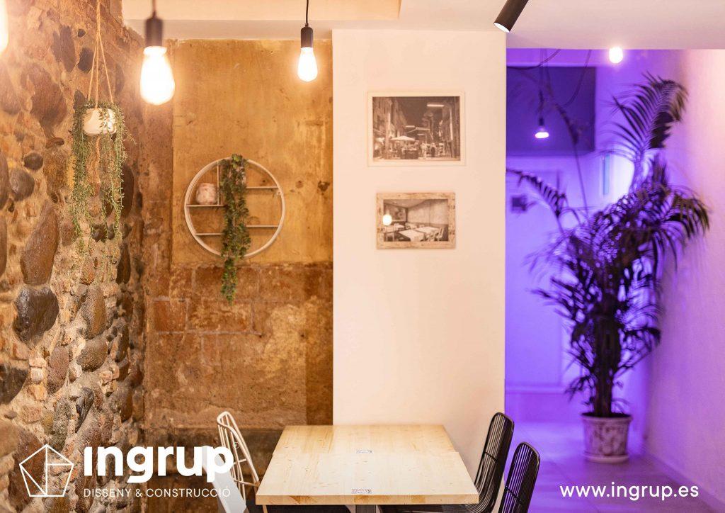 0013 la magrana restaurante cuina meditarrania ingrup estudi diseno construccion granollers barcelona obra reforma interiorismo detalles decoracion local iluminacion mesas