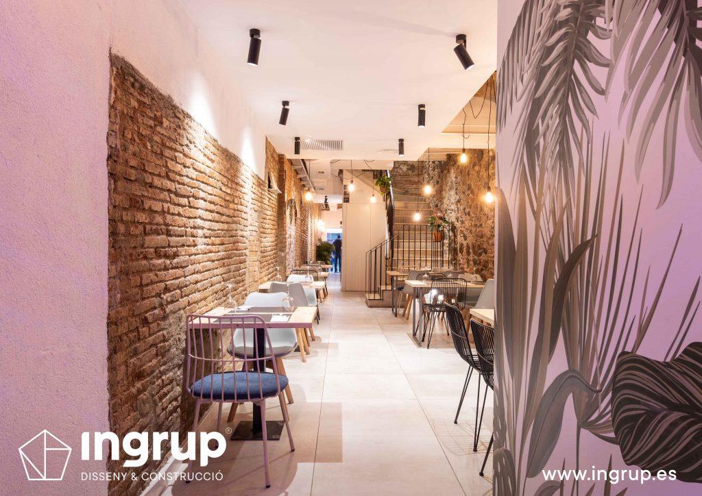 0016 la magrana restaurante cuina meditarrania ingrup estudi diseno construccion granollers barcelona obra reforma interiorismo vista general comedor interior