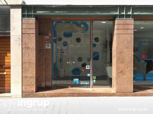 01 estado antigua entrada local comercial gimnasio cristalera ingrup estudi retail rotulacion