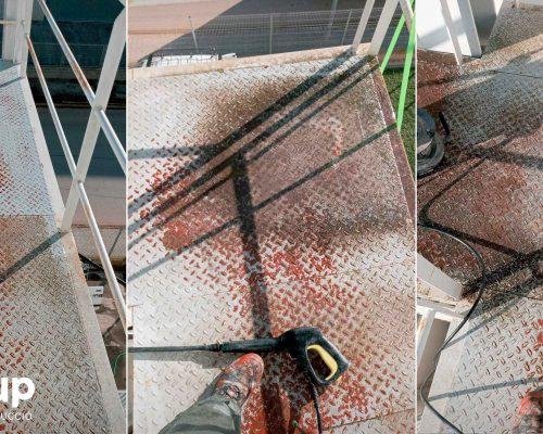 01 kh7 mantenimiento empresas retail ingrup estudi granollers estado deteriorado escalera emergencias