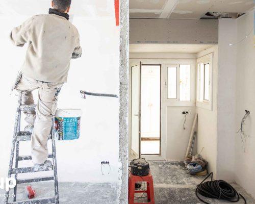 01 obra reforma piso vivienda ingrup estudi diseno construccion operario alisado paredes pladur distribucion