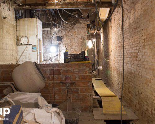 02 la magrana restaurant obra reforma construccion ingrup estudi demolicion barra antigua