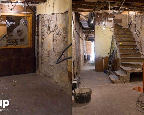 06 la magrana restaurant obra reforma construccion ingrup estudi demolicion escaleras