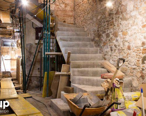 08 la magrana restaurant obra reforma construccion ingrup estudi escaleras hormigon