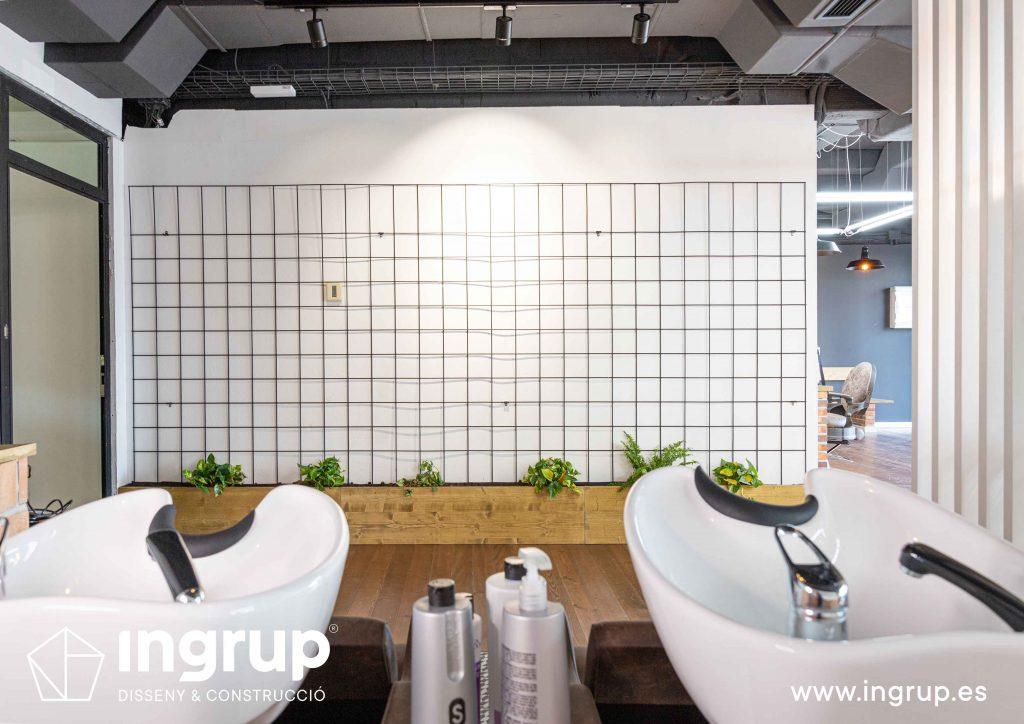 13 proyecto integral llaves en mano ingrup estudi diseno construccion obra reforma barberia interiorismo decoracion pared plantas