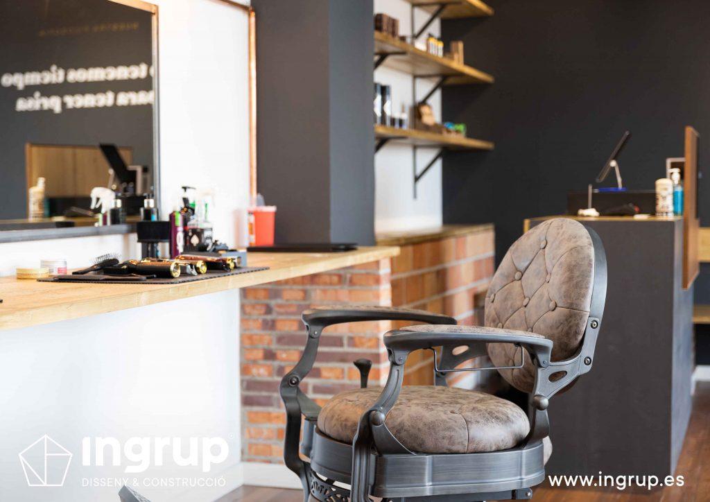 17 proyecto integral llaves en mano ingrup estudi diseno construccion obra reforma barberia mobiliario acabados calidad