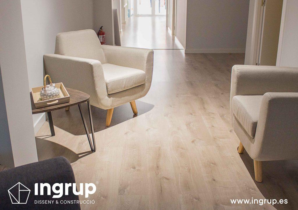 colocacion parquet pavimento madera ingrup estudi granollers bacerlona construccion retail diseno