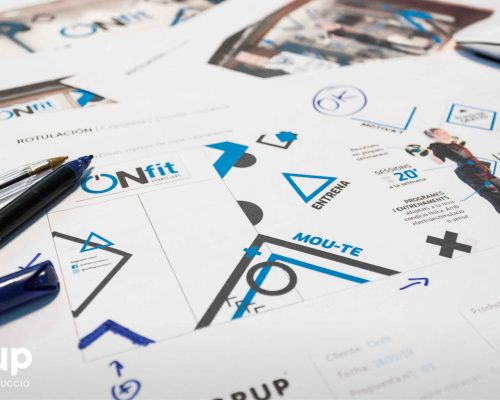 proceso de diseno de l nueva rotulacion retail ingrup estudio construccion retail vinilos impresion fabricacion propia