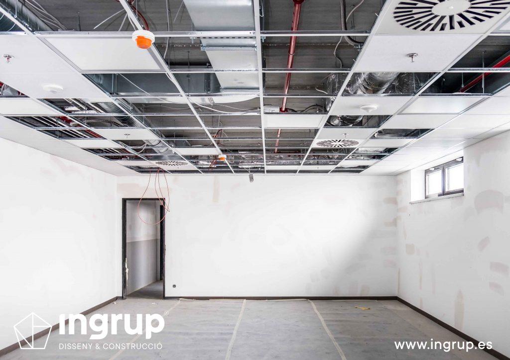 techo desmontable falso techo planeles yeso ingrup estudi diseno construccion granollers barcelona