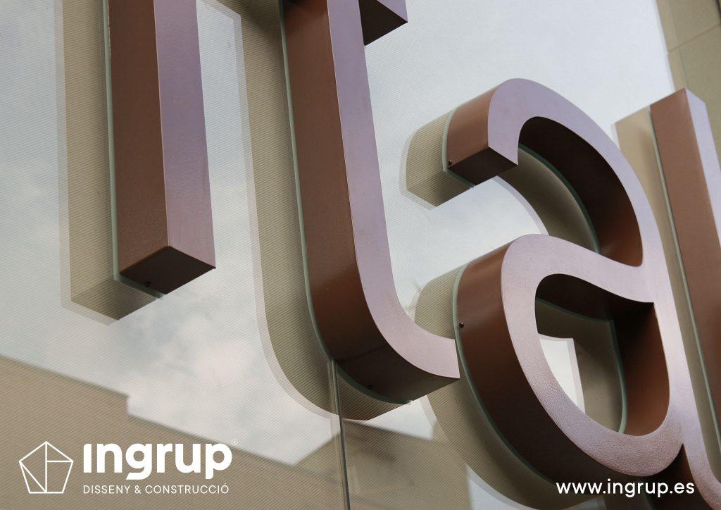 00 detalle letras corporeas gran formato aluminio ingrup estudi diseno construccion retail rotulacion pintura granollers barcelona