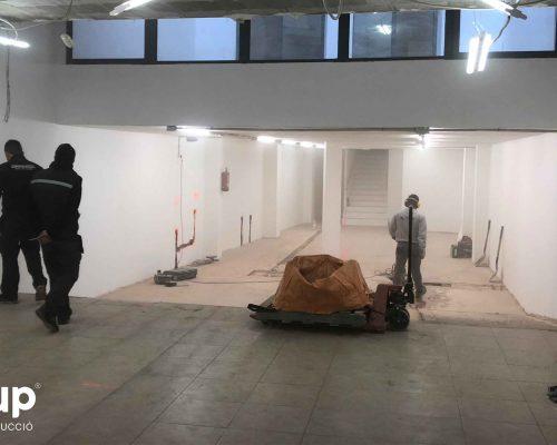 01 antes construccion rampa ingrup estudi estudio diseno construccion retail rotulacion granollers barcelona interiorismo