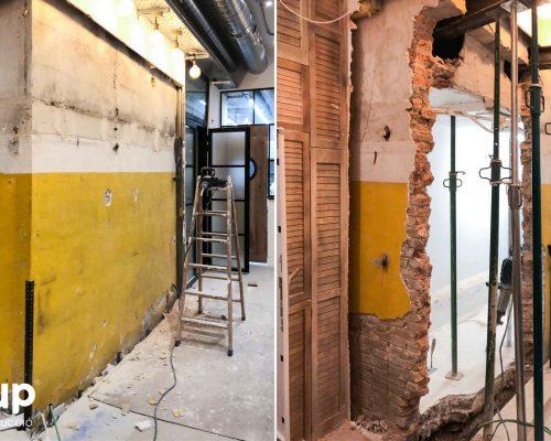 01 derribo muro colocacion bigas soporte estructural ingrup estudi cons