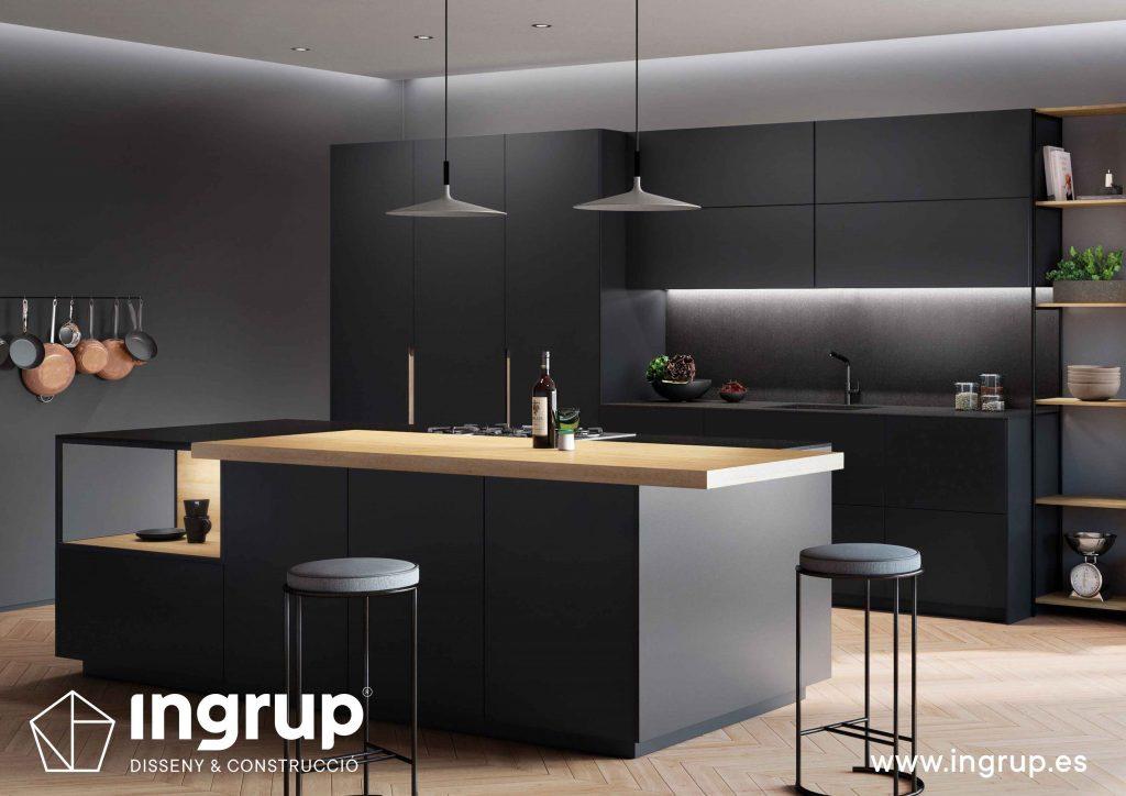02 diseno-isla-cocinas-a-medida-rekker-partner-showroom-exposicion-ingrup-estudio-construccion-retail-granollers-barcelona-materiales-alta-calidad
