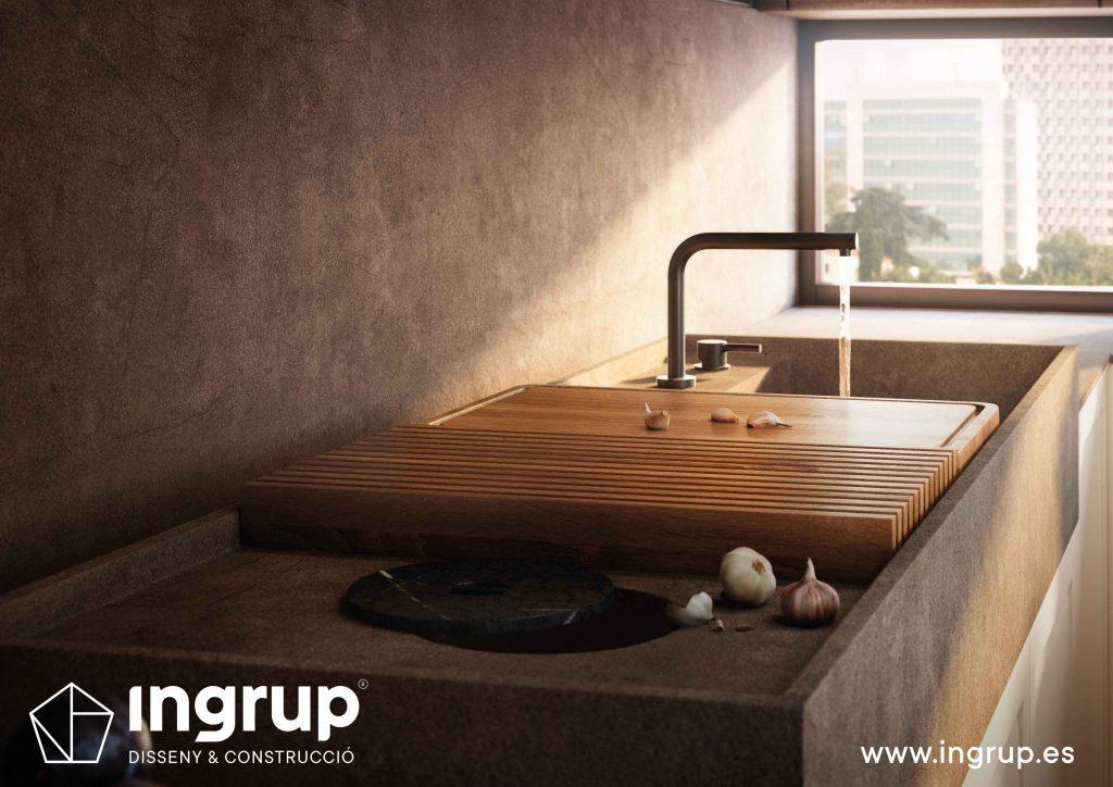 diseno-detalle-grifo-pica-cocinas-a-medida-rekker-partner-showroom-exposicion-ingrup-estudio-construccion-retail-granollers-barcelona-materiales-alta-calidad