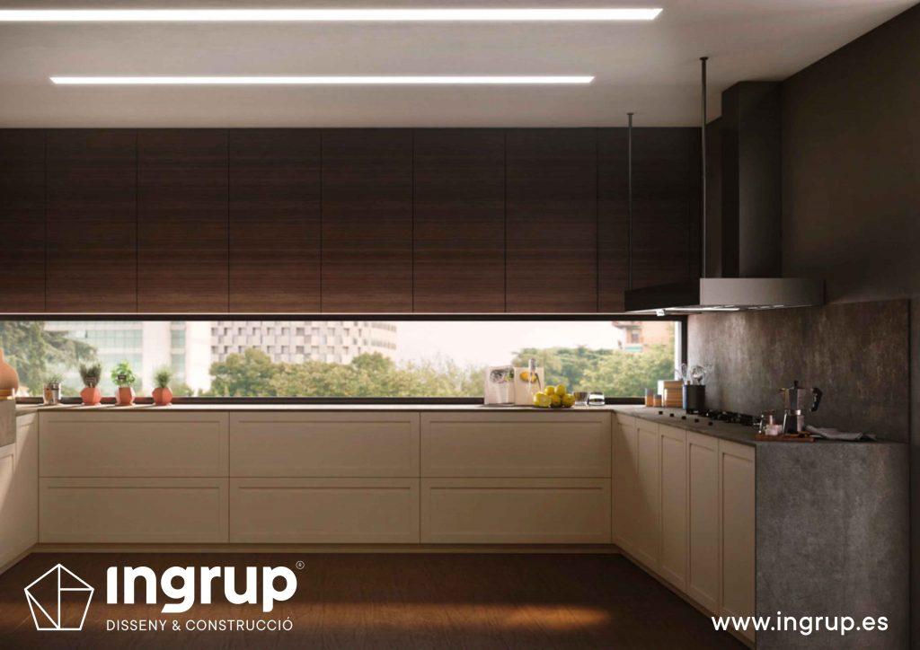 04 diseno cocina abierta cocinas a medida rekker partner showroom exposicion ingrup estudio construccion retail granollers barcelona materiales alta calidad