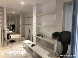 05 construccion estanterias de pladur a medida ingrup estudi diseno construccion retail rotulacion interiorismo granollers barcelona