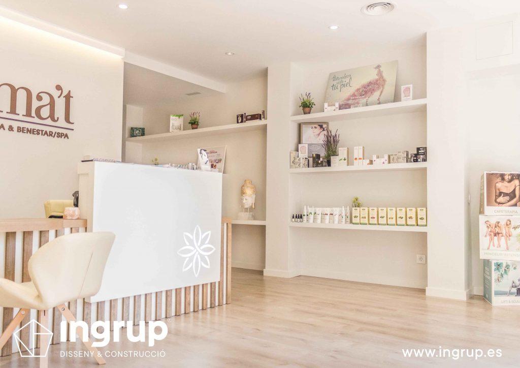 05 estanterias pladur a medida pintura decorativa colocacion parquet ingrup estudi diseno construccion retail granollers barcelona