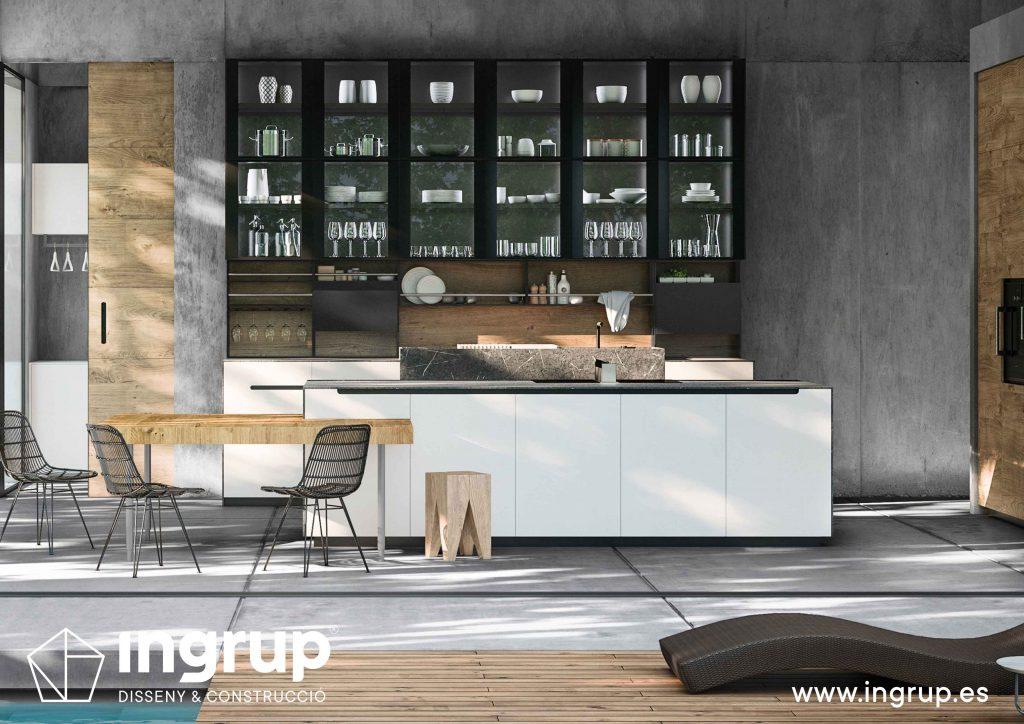 07 diseno cocinas a medida rekker partner showroom exposicion ingrup estudio construccion retail granollers barcelona materiales alta calidad