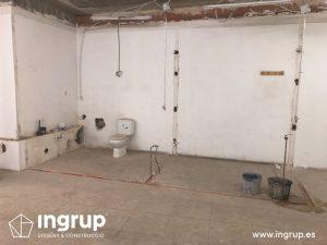 13 antes derribo tabiques limpieza desagues ingrup estudi diseno construccion retail rotulacion interiorismo granollers barcelona