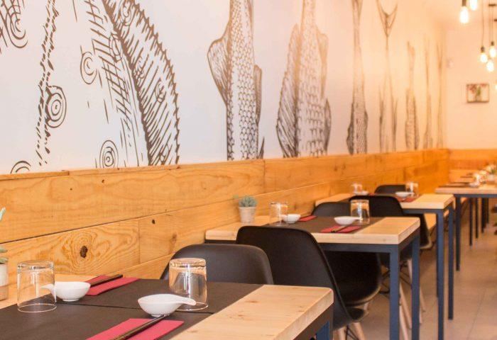 01 slider reforma integral local comercial restaurante japones interiorismo mobiliario obra ingrup estudio diseno construccion retail granollers barcelona