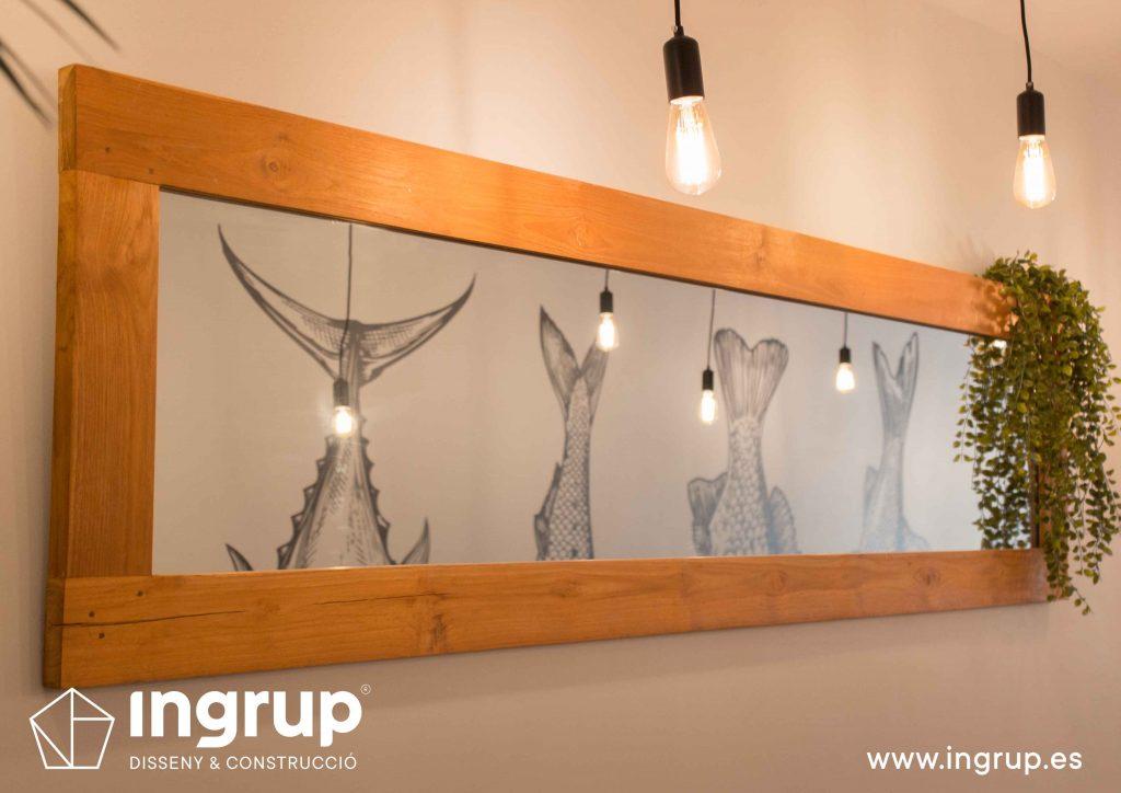 012 detalle espejo fabricacion decoracion iluminacion interiorismo ingrup estudi diseno construccion granollers barcelona