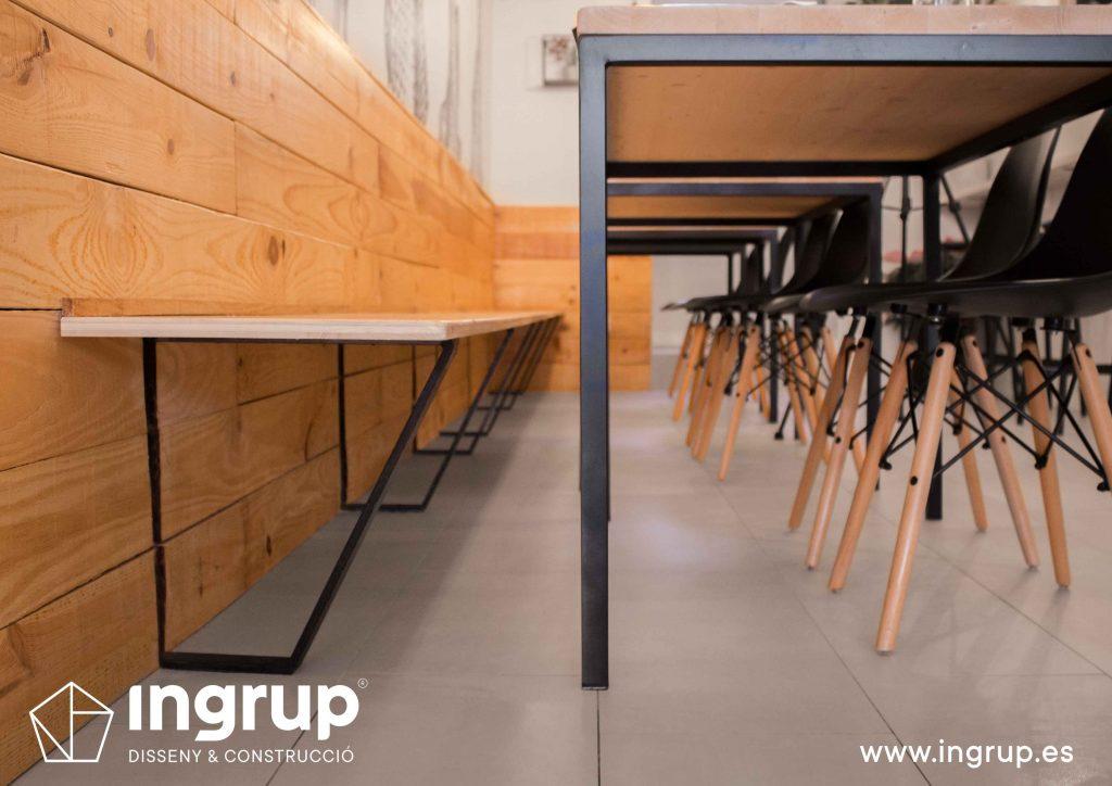 015 detalle estructura mobiliario restaurante fabricacion interiorismo ingrup estudi diseno construccion granollers barcelona
