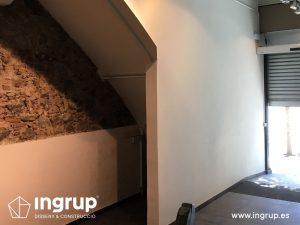 09 antes entrada reforma integral local comercial vermuteca interiorismo 3d ingrup estudi diseno construccion retail granollers barcelona