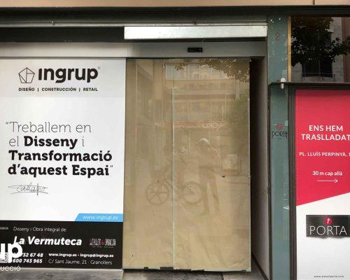 12 entrada local antigua antes reforma integral local comercial vermuteca interiorismo 3d ingrup estudi diseno construccion retail granollers barcelona