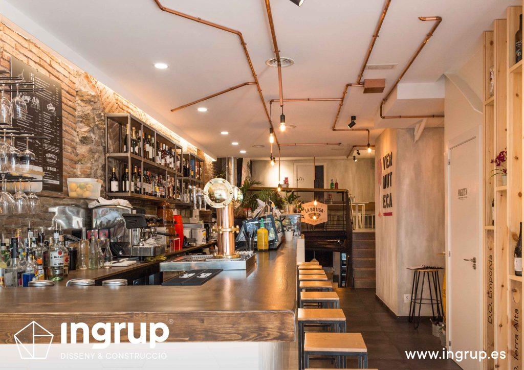 12 zona barra co iluminacion dedicada decoracion ingrup estudio diseno construccion retail granollers barcelona