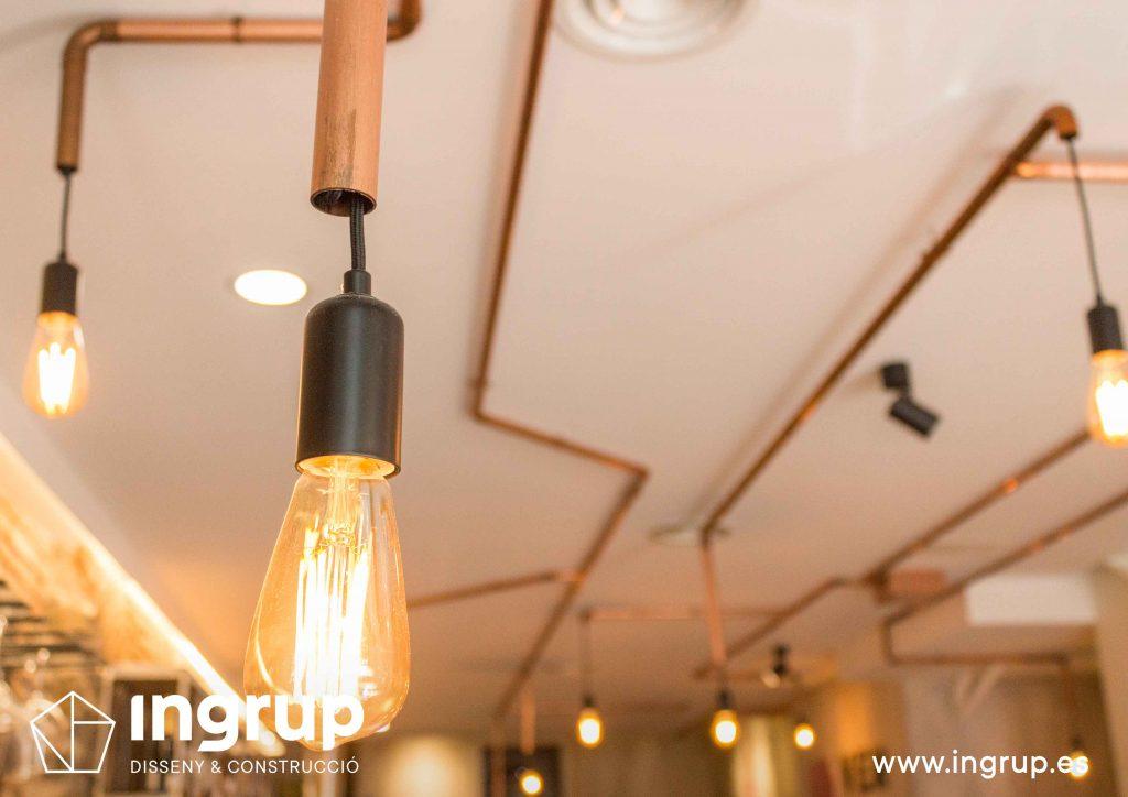 13 detalle iluminacion dedicada a medida led interiorismo decoracion cobre ingrup estudio diseno construccion retail granollers barcelona