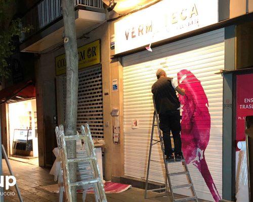 13 rotulacion entrada local vinilo decorativo reforma integral local comercial vermuteca interiorismo 3d ingrup estudi diseno construccion retail granollers barcelona