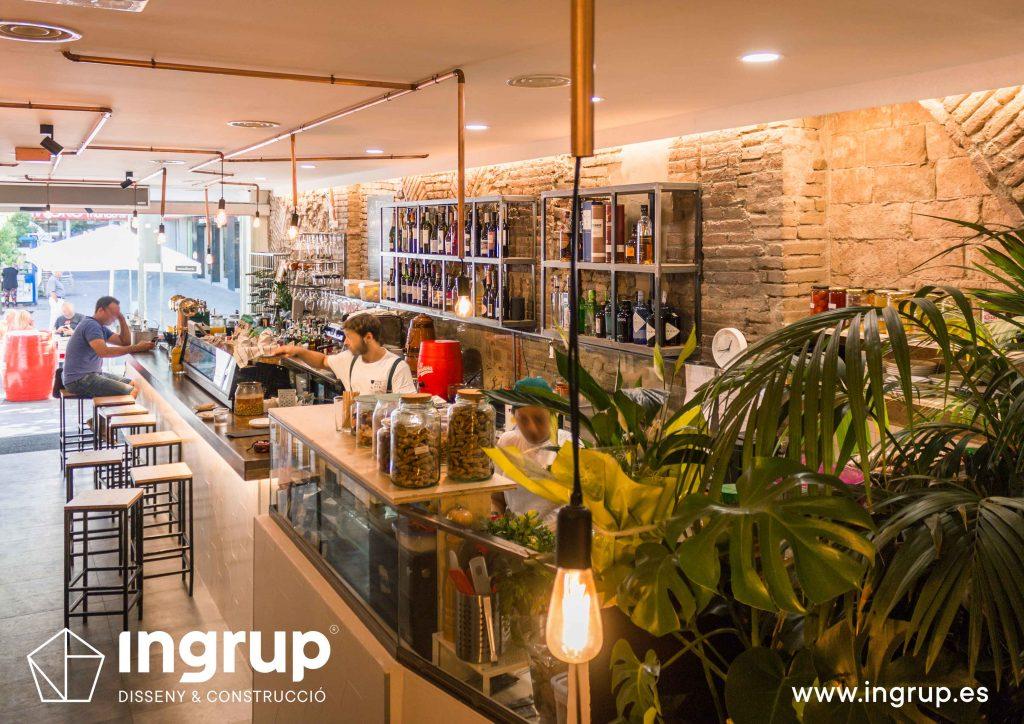 18 vista general planta baja local vermuteca interiorismo ingrup estudio diseno construccion retail granollers barcelona