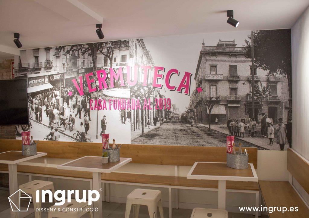20 foto mural gran formato pared instalacion propia fabricacion impresion ingrup estudio diseno construccion retail granollers barcelona