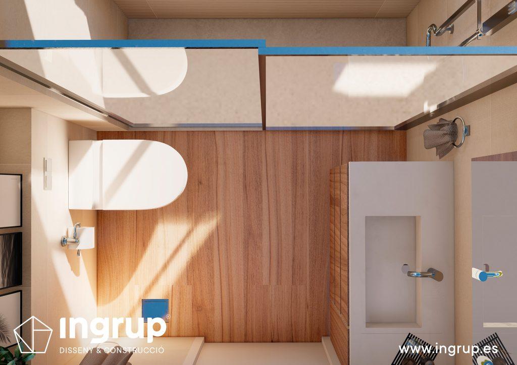 02 interiorismo render 3d baño lavabo wc diseno propio integral ingrup estudio diseno construccion retail granollers barcelona