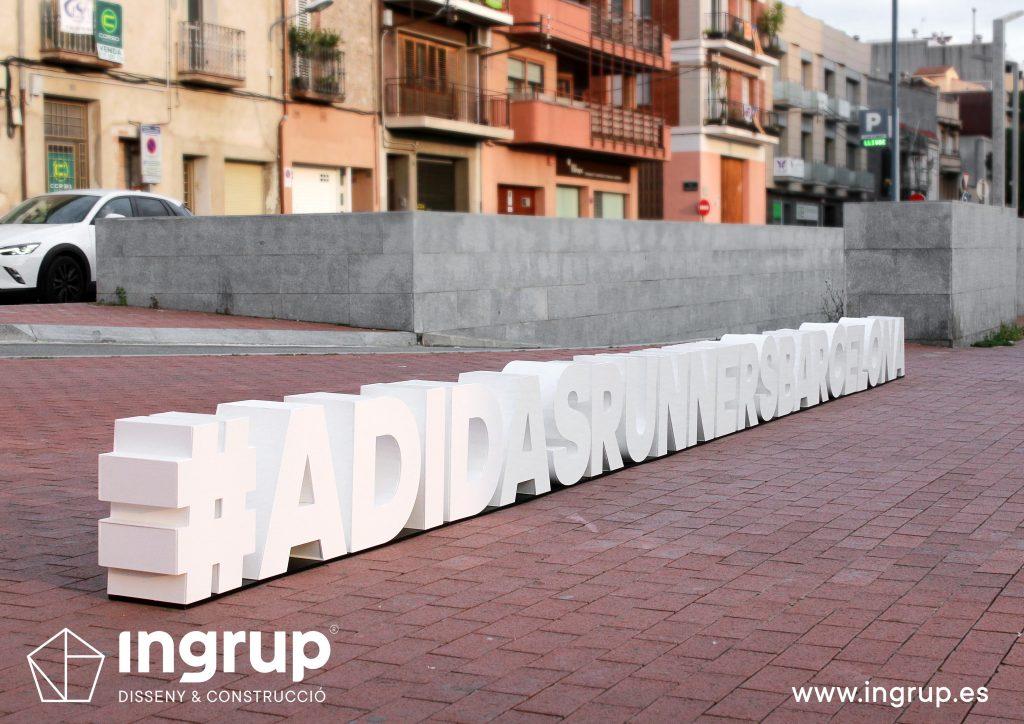 02 letras corporeas gran formato pvc ingrup estudio diseno construccion retail granollers barcelona