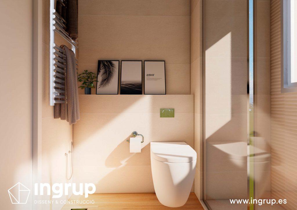 03 1 interiorismo render 3d baño lavabo wc diseno frontal retrete propio integral ingrup estudio diseno construccion retail granollers barcelona