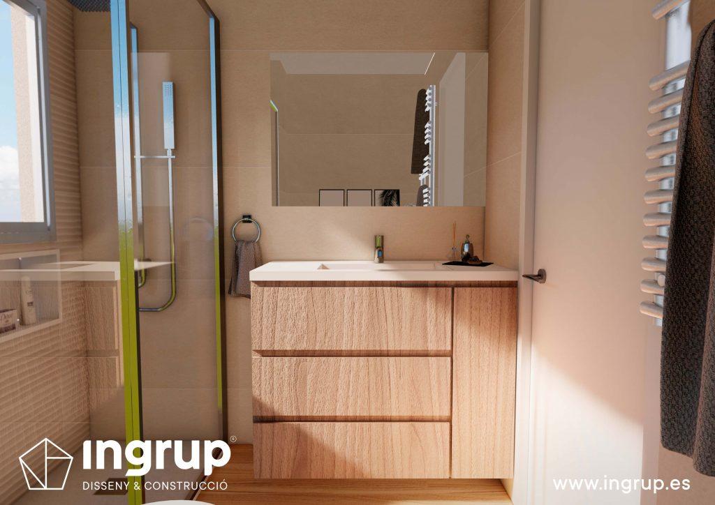 03 2 interiorismo render 3d baño lavabo wc diseno pica lavar manos propio integral ingrup estudio diseno construccion retail granollers barcelona