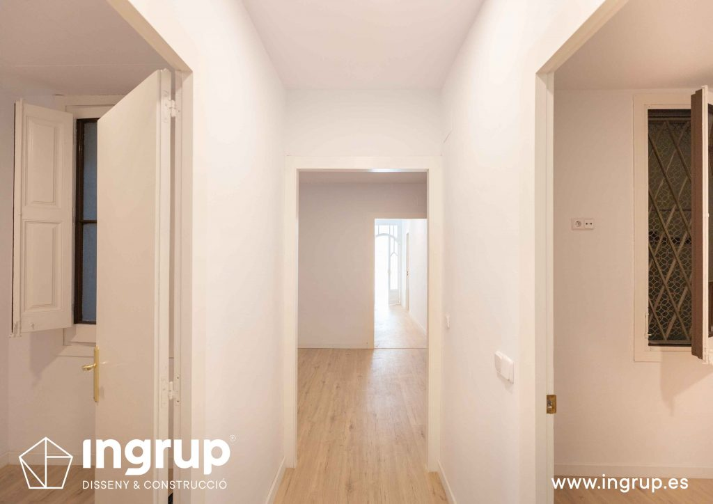 03 reforma integral piso barcelona rehabilitacion pintura parquet pavimento instalacion ingrup estudio diseno construccion retail granollers barcelona