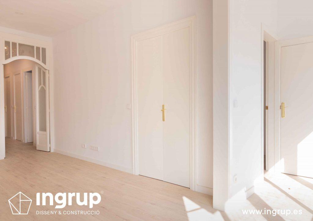 07 comedor espacio reforma integral piso barcelona rehabilitacion pintura parquet pavimento instalacion ingrup estudio diseno construccion retail granollers barcelona