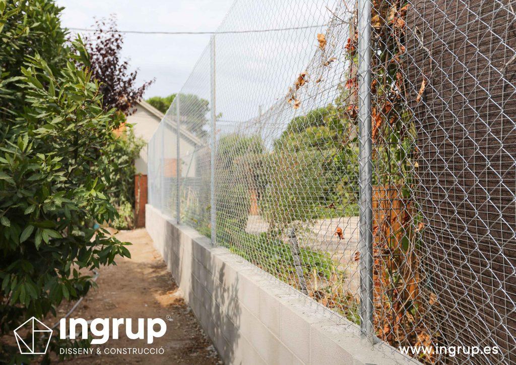 11 construccion muro divisor vivienda particular obra reforma ingrup estudio diseno construccion retail granollers barcelona