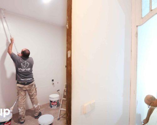 11 pintura integral proceso obra reforma integral piso barcelona interiorismo ingrup estudio diseno construccion retail granollers barcelona