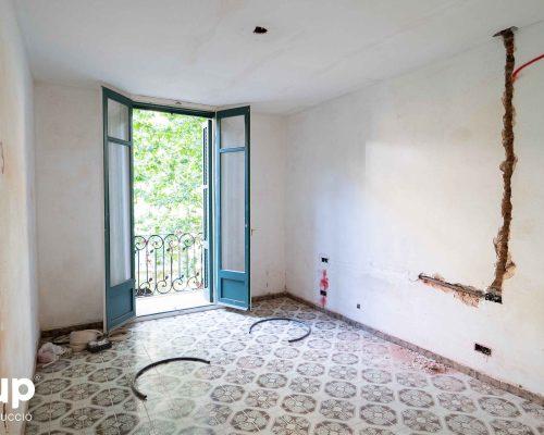 12 habitacion instalacion electrica regata proceso obra reforma integral piso barcelona interiorismo ingrup estudio diseno construccion retail granollers barcelona