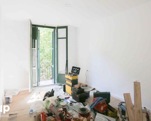 13 habitacion pintura integral proceso obra reforma integral piso barcelona interiorismo ingrup estudio diseno construccion retail granollers barcelona