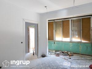 15 antes comedor proceso obra reforma integral piso barcelona interiorismo ingrup estudio diseno construccion retail granollers barcelona